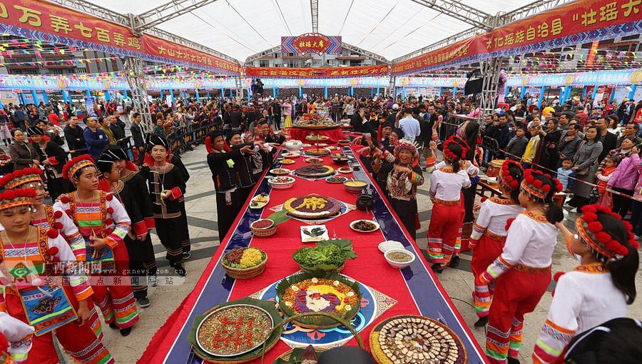 全国民族特色美食大联展在大化举行(组图)