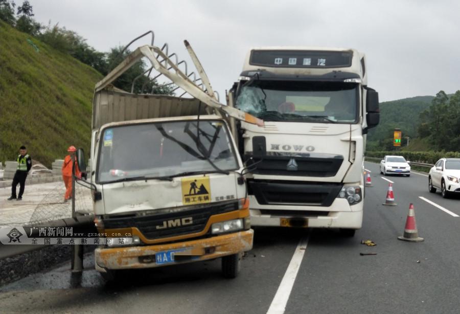 罐车车速过快酿事故 为避让前车不慎撞上施工车