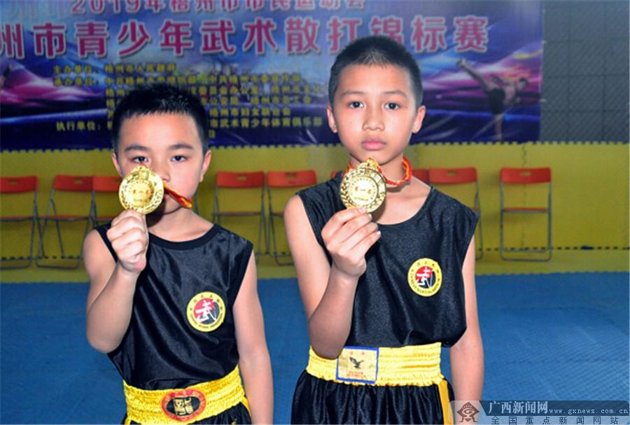 2019梧州市市民运动会青少年武术散打锦标赛举行