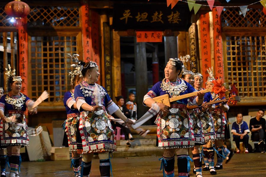 【高清图集】广西三江:侗寨月也风情浓
