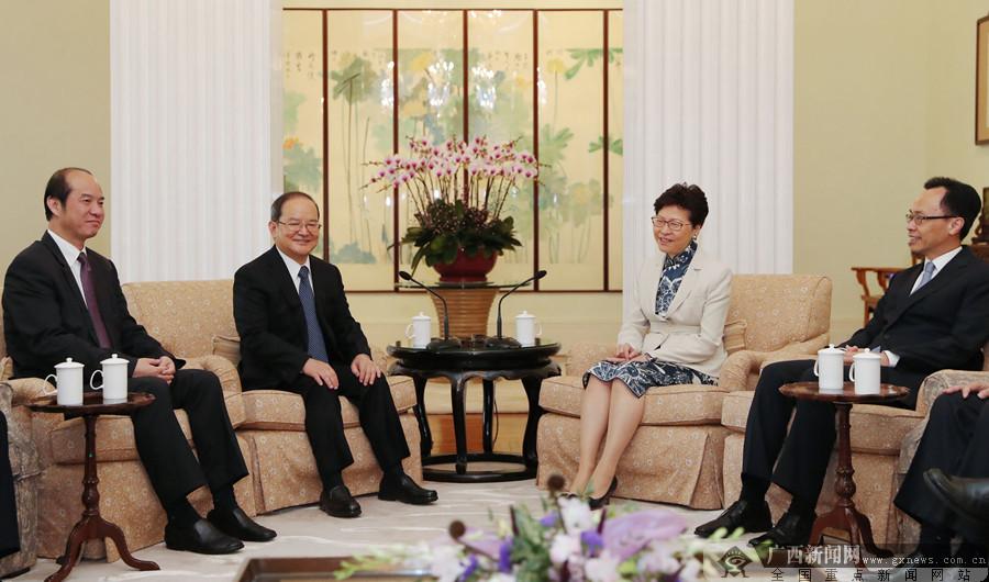 鹿心社会见香港特别行政区行政长官林郑月娥