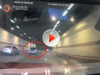 小車在南湖隧道逆行 司機:第一次進城