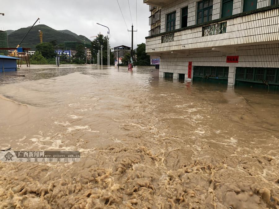 洪水围困人梯救援 桂林海事安全转移被困群众(图)