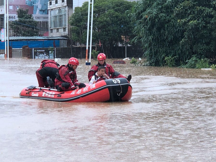 全州县强降雨导致5人死亡 1人失联(组图)