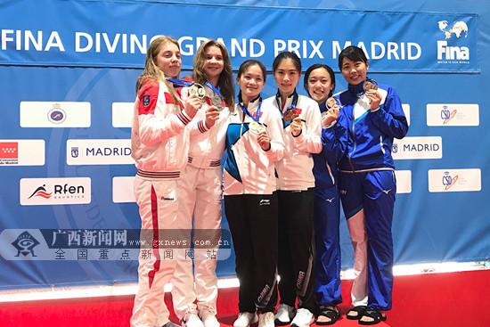 2019年跳水大奖赛西班牙站:广西黄小惠韦颖夺金