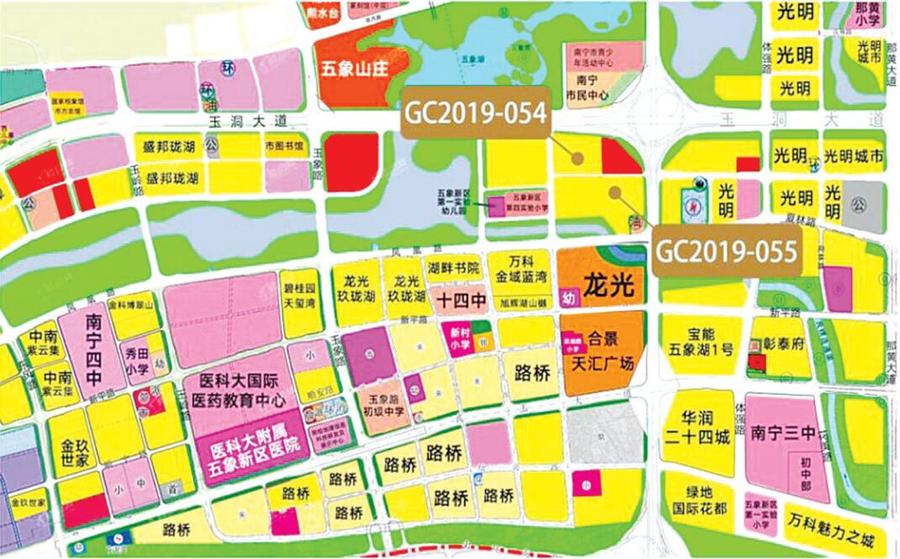 南寧五象新區兩幅優質地塊吸引19家房企搶拍(圖)