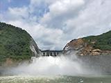 壯觀!田林瓦村水電站大壩行洪場景惹人圍觀(圖)