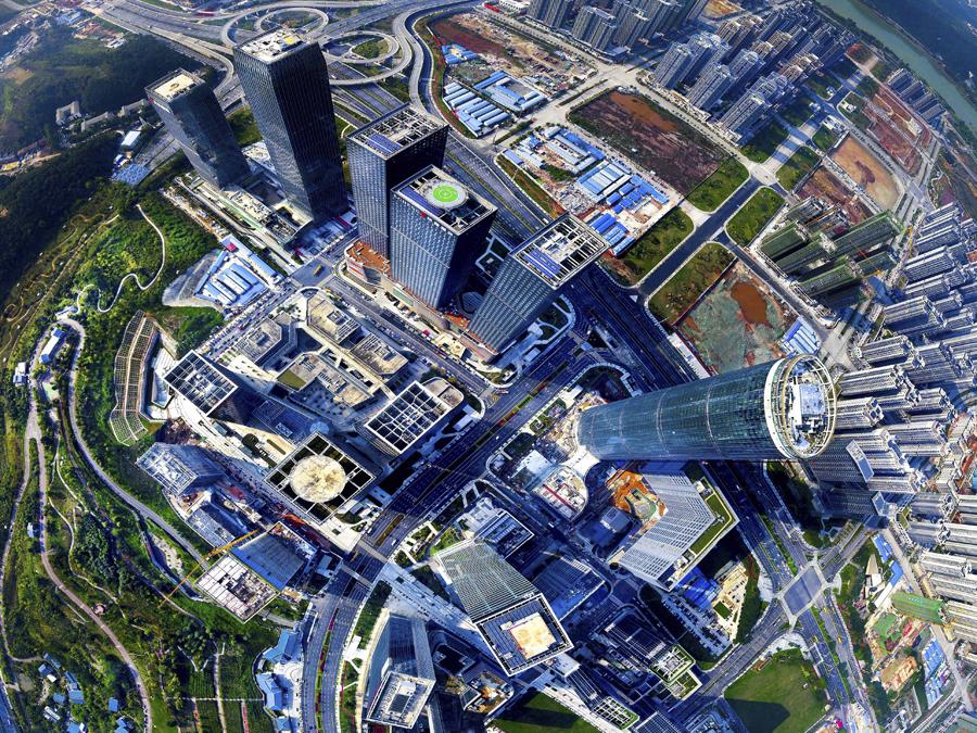 6月20日焦點圖:南寧五象新區打造中國-東盟金融城