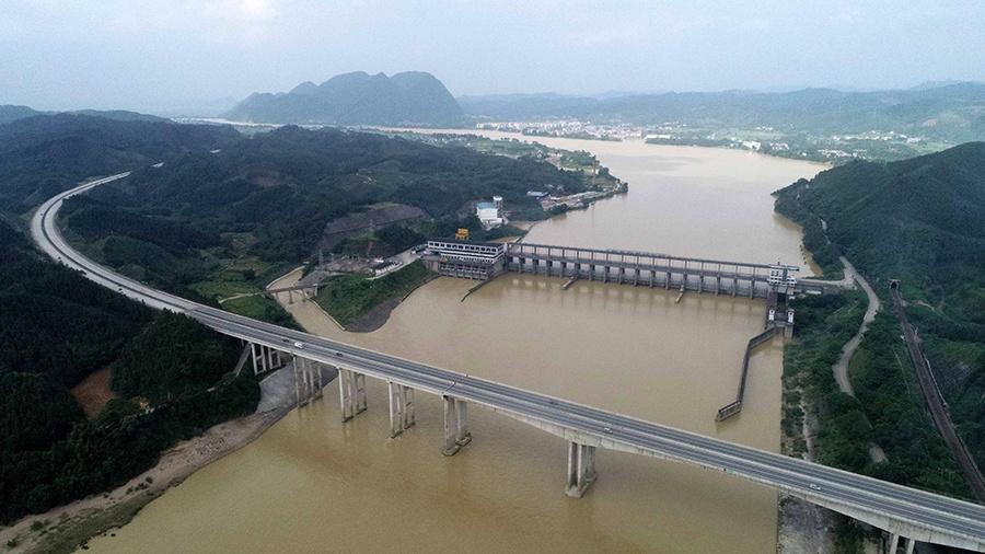 融安县出现强降雨过程 雨后融江如黄河(组图)