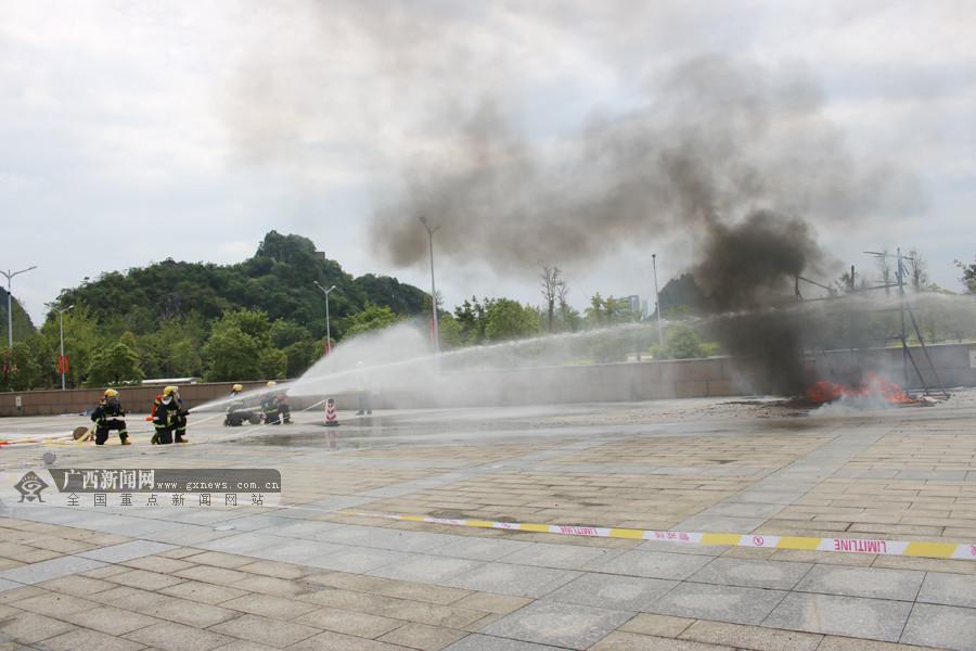桂林开展2019年城市燃气管网泄漏爆炸事故应急演练