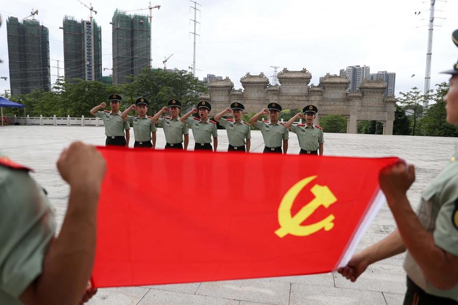 广西南宁:传承红色基因 不忘入党初心