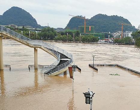 广西8市40县(市、区)遭洪灾侵袭 超过28万人受灾