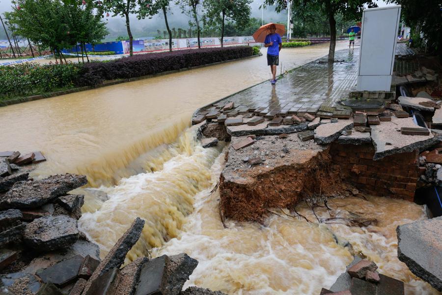 高清:柳城县境内普降大暴雨 部分乡镇农作物受淹