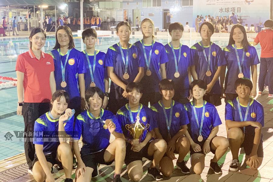 广西60名小将参加二青会水球决赛(顺德)获1枚铜牌