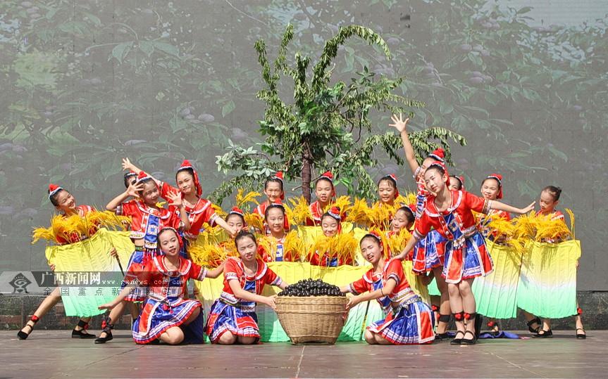 中国农民丰收节天峨有李庆祝活动举行