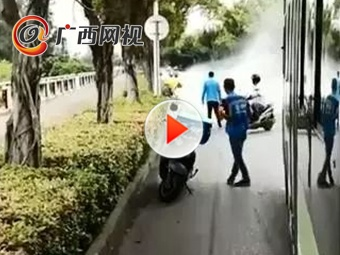 南寧3小時內突發2起電動車自燃事故 還好有他們!
