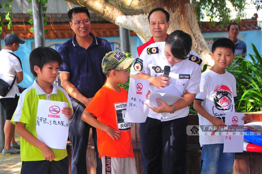 百色:多部门联合进乡村景区宣教防溺水安全知识