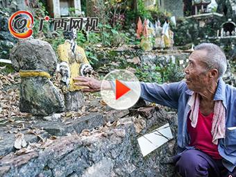 """广西八旬老人自制模型 耗时18年建水泥""""戏园"""""""