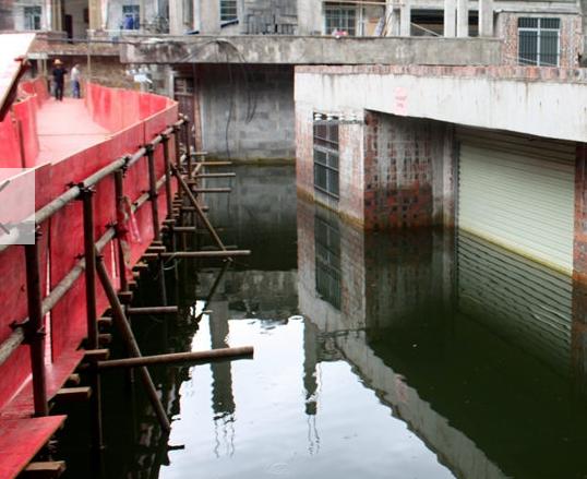 田东思林镇现50年一遇严重内涝 多处房屋被淹