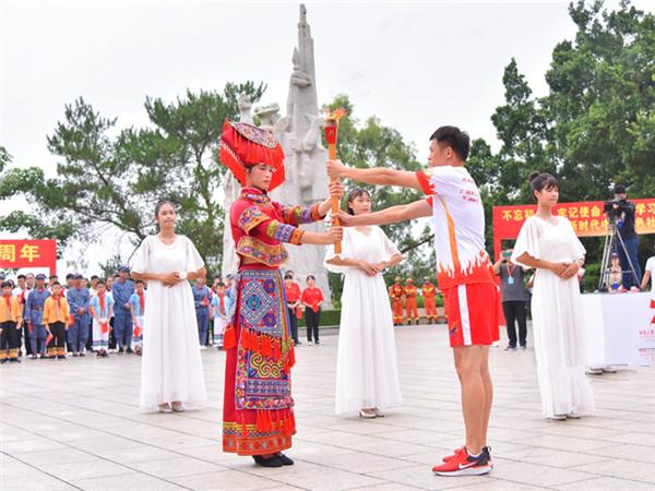 廣西第十四屆運動會圣火采集完成 將啟動火炬傳遞