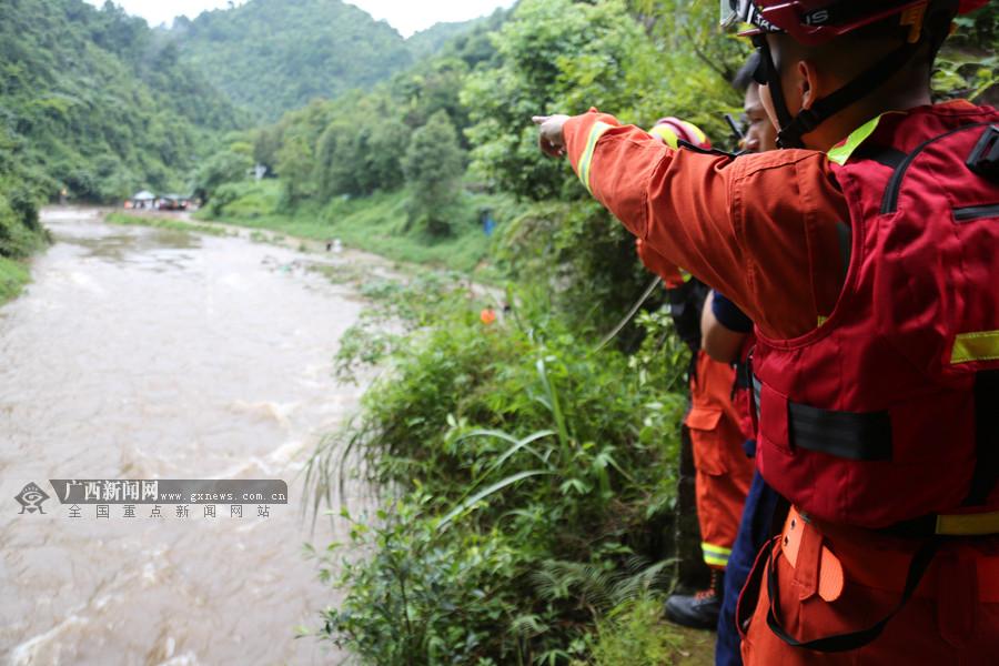 突发!上林山洪爆发37名游客被困 消防紧急救援