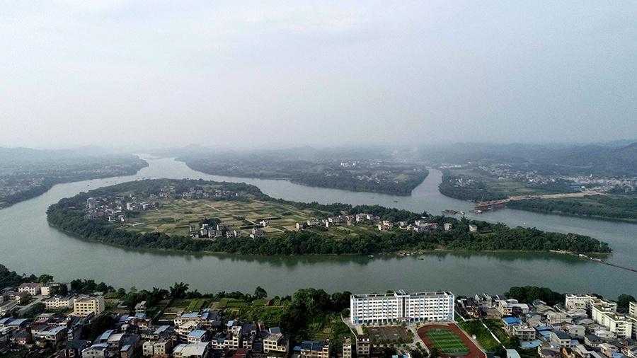 高清组图:江在城中,城在江中