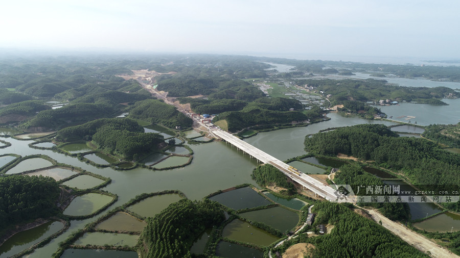 广西滨海公路企沙至茅岭段建设正酣 全长34.73Km
