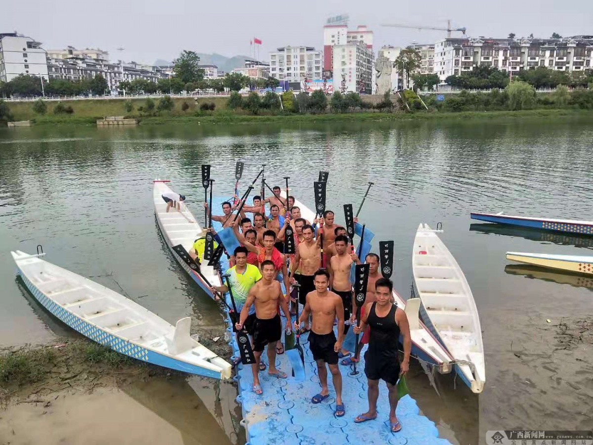 广西龙舟队圆满完成训练任务进入赛前调整阶段