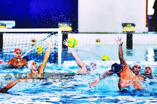 2019全国男子水球冠军赛:广西球员
