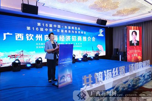 广西钦州向海经济招商推介会在南宁举行