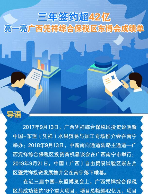【图解】三年签约超42亿 亮一亮广西凭祥综合保税区东博会成绩单