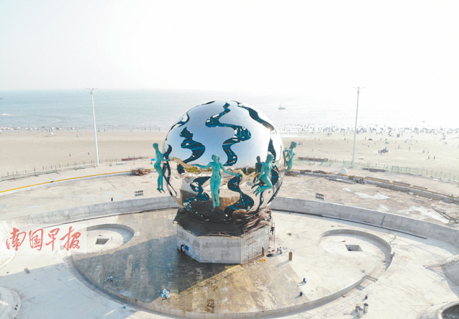 "10月7日焦�c�D:北海�y��""潮""雕塑�A���w��"