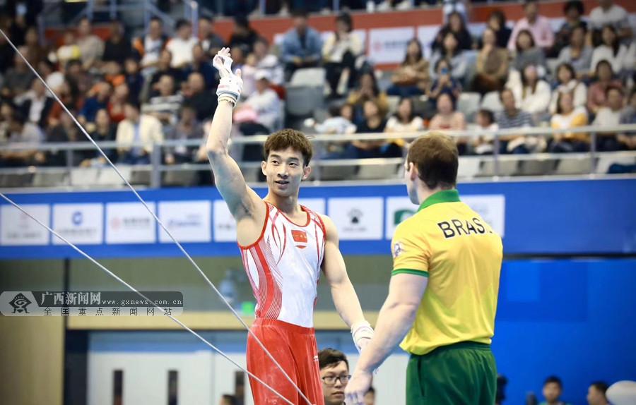 广西黄明淇助力中国体操队夺取军运会男子团体金牌