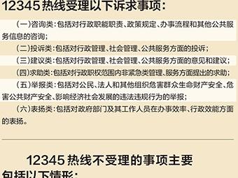 """26日焦點圖:咨詢投訴舉報打哪個電話?""""12345""""!"""