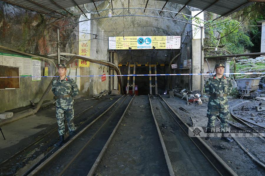 高清:南丹矿井冒顶事故初步核实11人被困 其中2人遇难
