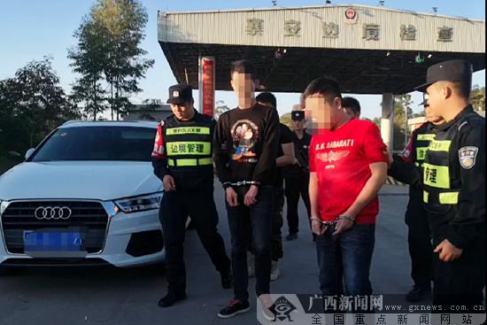 憑祥寨安邊境檢查站執勤民警查獲3名吸毒人員