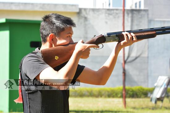 广西壮族自治区第十四届运动会飞碟项目结束争夺
