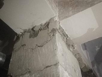 一小区住宅楼3根承重柱爆裂 部门£º楼盘未经验收