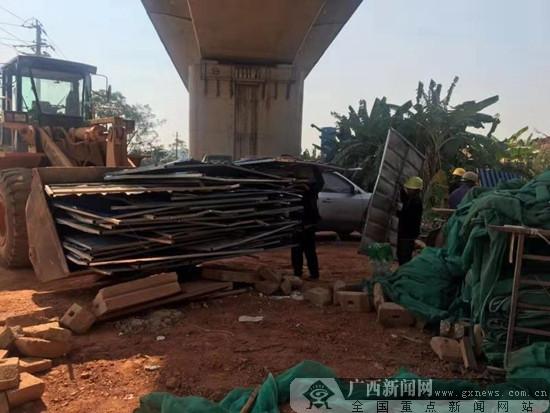 邕宁区专项整治高铁沿线违法建设乱搭乱建