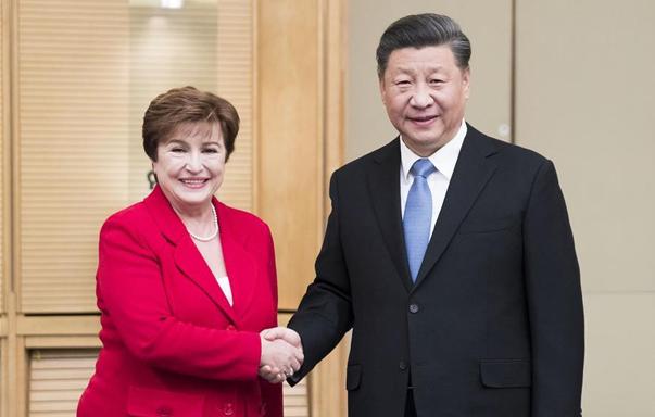 习近平会见国际货币基金组织总裁