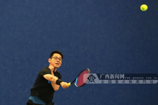 2019年第二屆廣西城市業余網球團體賽在南寧揮拍