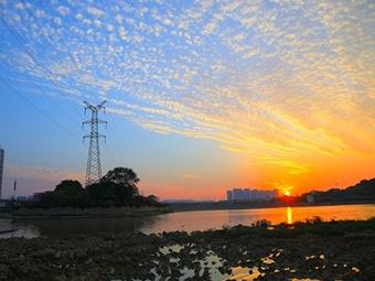 高清组图:南宁、柳州、北海绚丽晚霞,你最爱哪里