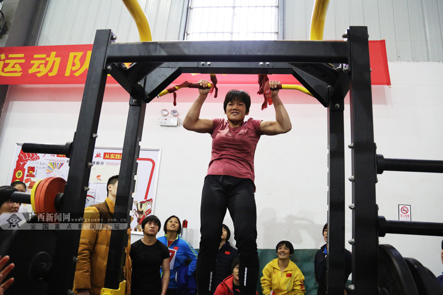 广西重竞技运动员开展体能大比武 吹响冬训号角