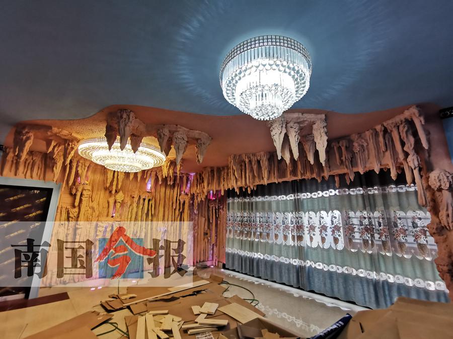 """1月3日焦点图:广西一男子把家装修成""""溶洞"""""""