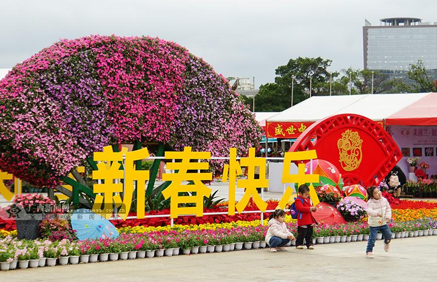 高清:千种花卉盛开 迎春花市姹紫嫣红年味浓