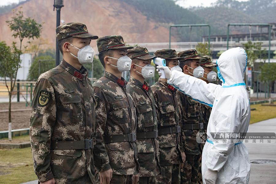 广西来宾:武警官兵全力做好疫情防控工作