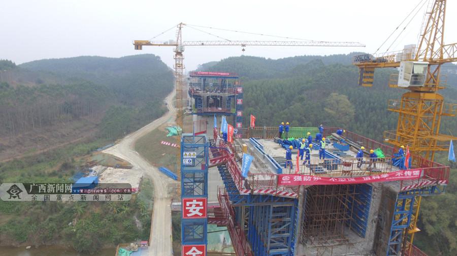 广西首条设计时速350公里客运专线全线正式复工
