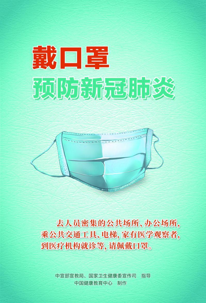 戴口罩预防新冠肺炎(海报)