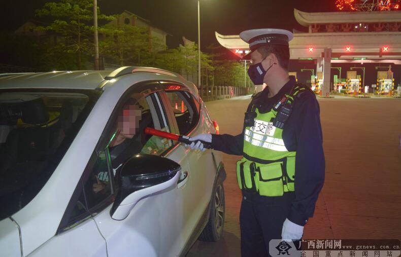 北海交警开展整治行动查处38起酒驾醉驾