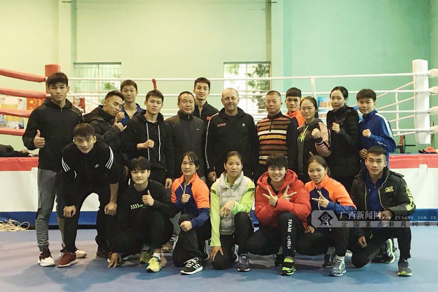 广西拳击队运动员居家就地取材训练忙(图)